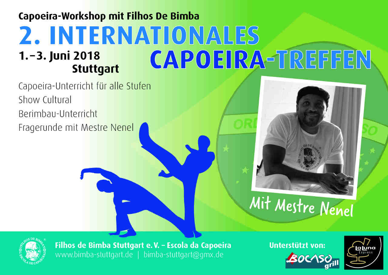 Zweites internationales Capoeira-Treffen in Stuttgart